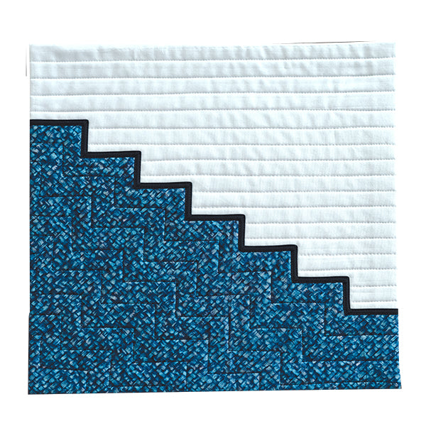 Blue Stairs by Terry Aske for Curated Quilts Mini Quilt Challenge