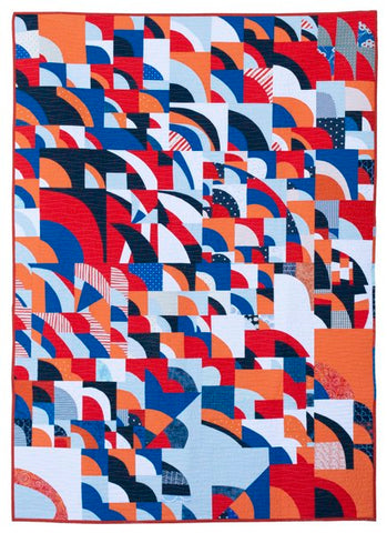 Bending the Curve by The Ottawa Modern Quilt Guild
