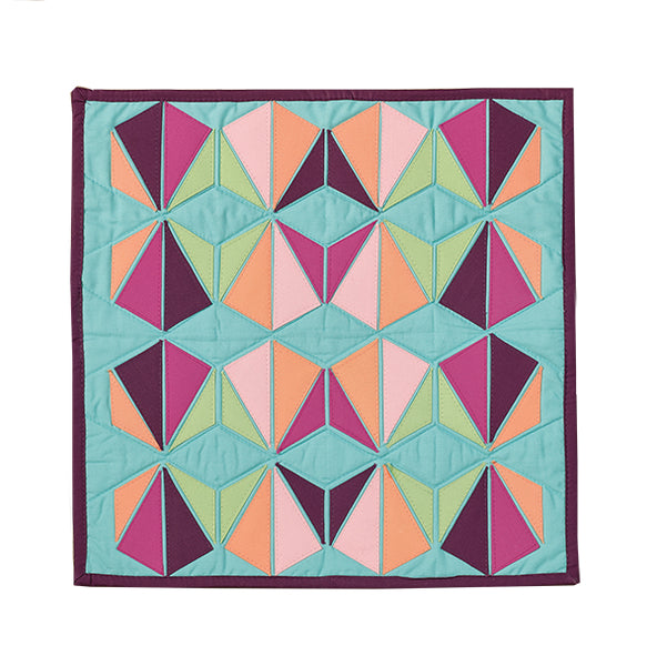 Hexangle by Isabelle Selak for Curated Quilts Mini Quilt Challenge