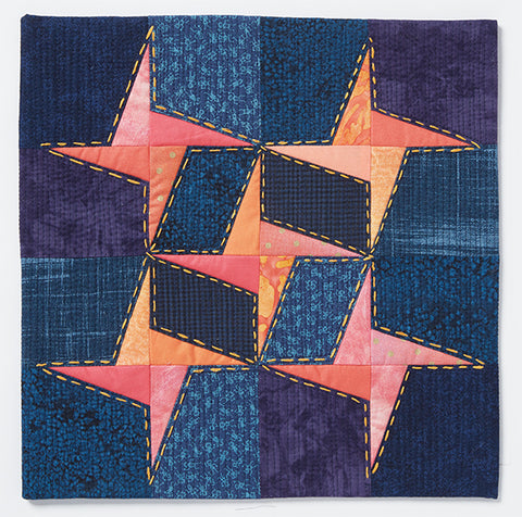 Twinkle Stars by Terry Aske @terryaskeartquilts