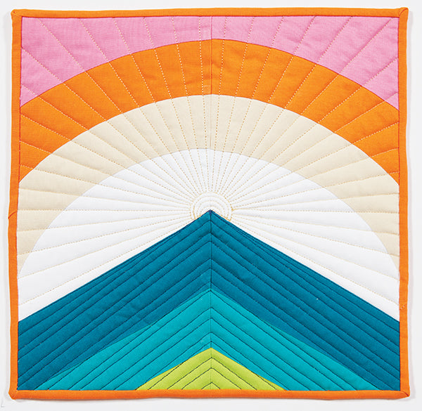 Always Darkest Before the Dawn by Erin Andrews for Curated Quilts Mini Quilt Challenge