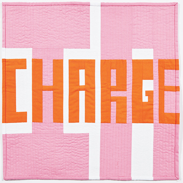 In Charge by Kathryn Upitis for Curated Quilts Mini Quilt Challenge