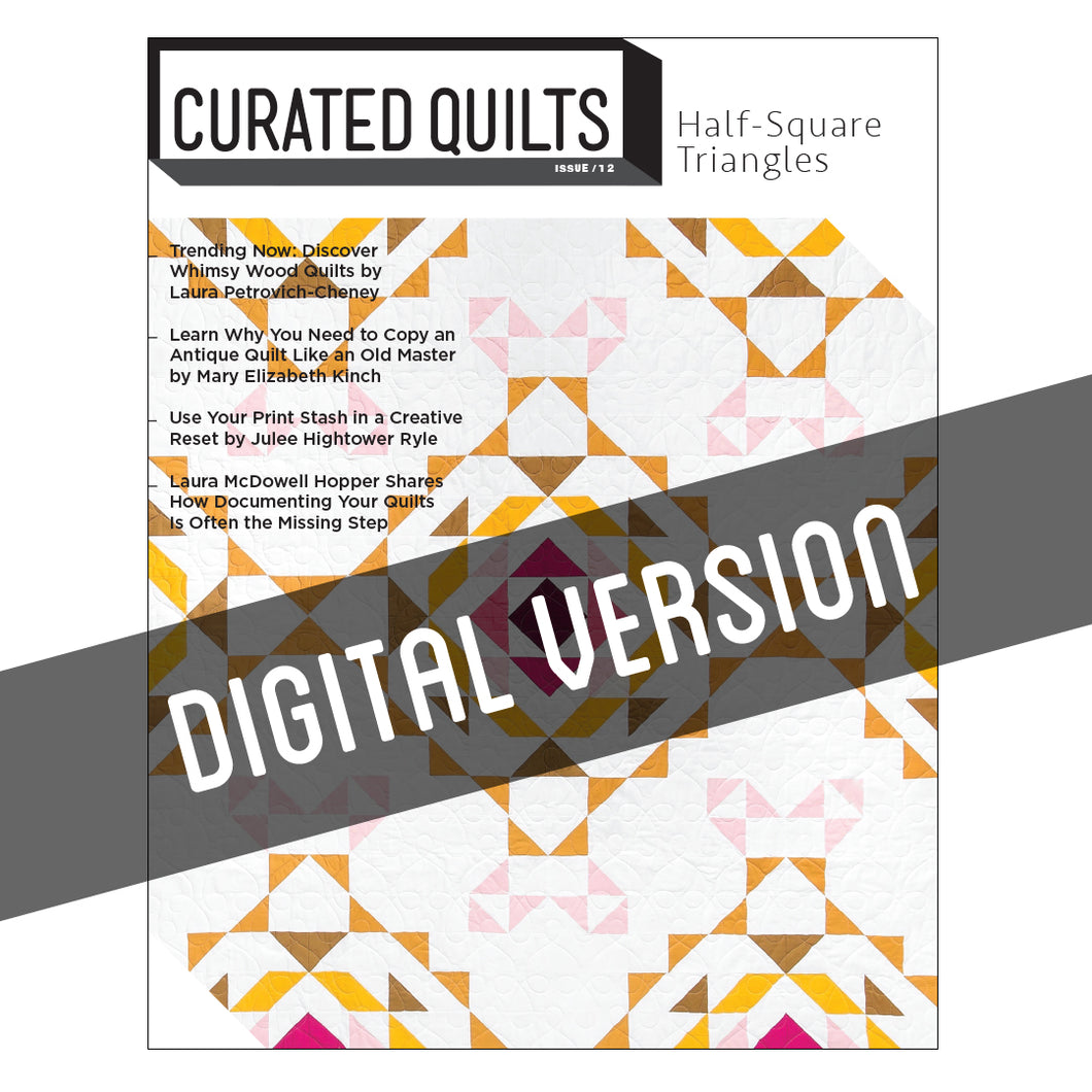 DIGITAL Half-Square Triangle - Issue 12