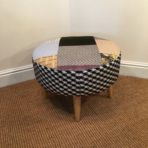 patchwork footstool long eaton