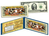 THREE WISE MONKEYS - Toshogu Shrine - Colorized U.S. $2 Bill Legal Tender - NIKKO JAPAN