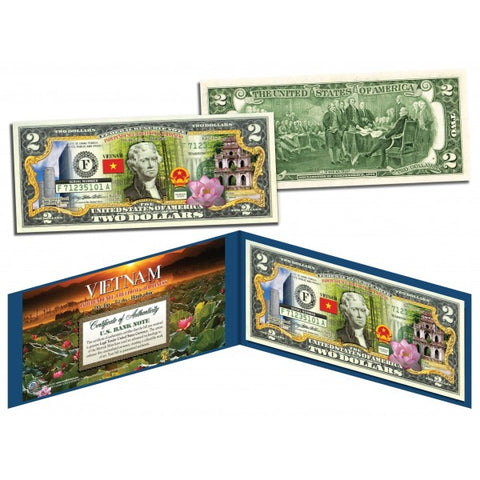 VIETNAM - Independence Freedom & Happiness - U.S. $2 Bill Legal Tender Currency