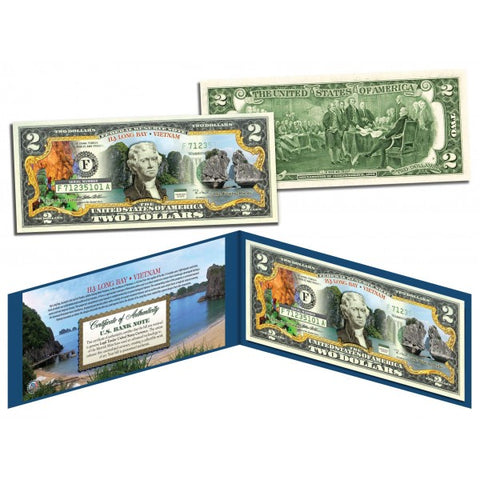 VIETNAM - HA LONG BAY - U.S. $2 Bill Genuine Legal Tender Two Dollar