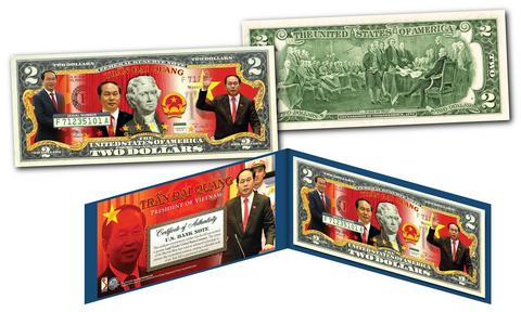 TRAN DAI QUANG * President of Vietnam * Official U.S. Genuine Legal Tender U.S. $2 Bill