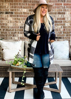 Lily Plaid Cardigan (Reg & Plus)