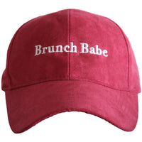 Brunch Babe ULTRA SUEDE Baseball Hat