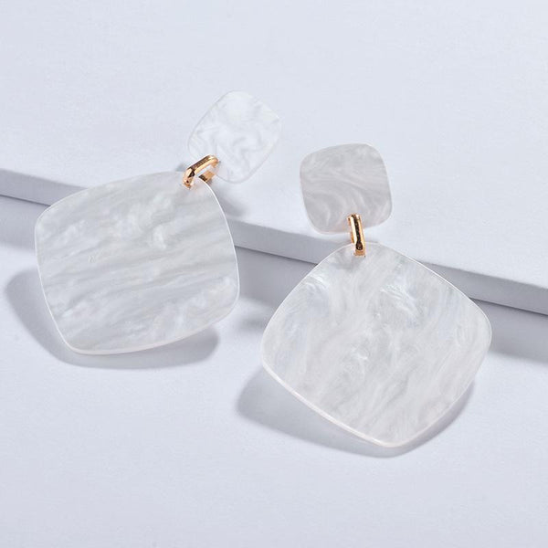 Ivory Acetate Drop Earrings