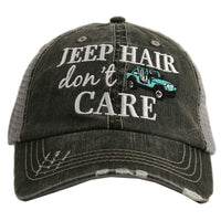 Jeep Hair Dont Care Trucker Hat