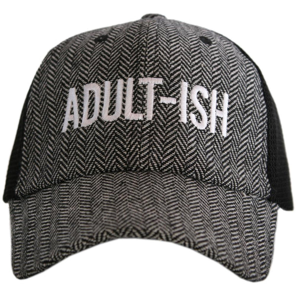 Adult-ish HERRINGBONE Trucker Hats
