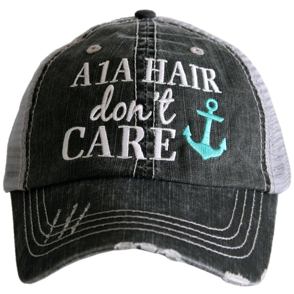 A1A Hair Don't Care Trucker Hats