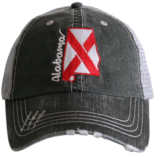 Alabama State FLAG Trucker Hats
