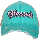 Blessed Trucker Hats w/ Layered Font