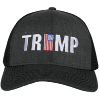 Trump w/ American Flag Men's Trucker Hat