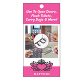 Pink Leopard Hands Free Key Chain