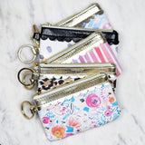 Black & White Dot Key Ring Wallet