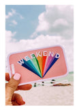 Weekend Rainbow Luggage Tags