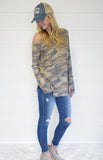 Camo Off Shoulder Top