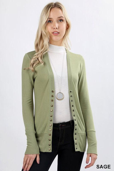 Cardigan - Classic Snap Button Cardigan (more Colors)