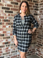 Dresses - Flannel Shirt Dress (more Colors Available)