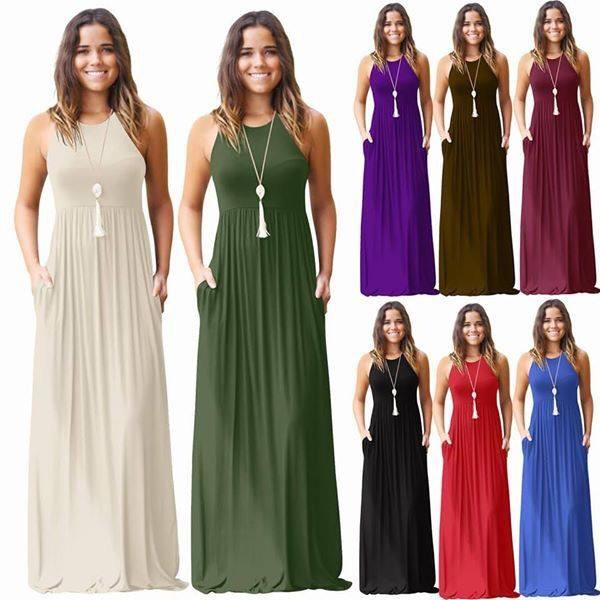 Dresses - Sleeveless Maxi Dress