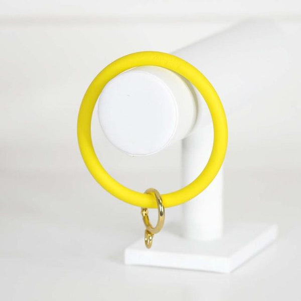 Neon Yellow Keyring