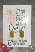 Earrings - Laser Cut Pineapple Stud Earrings