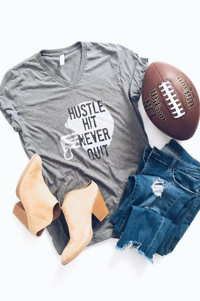 Graphic Tee - Hustle Hit Never Quit