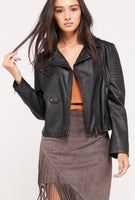 Moto Jacket - Vegan Faux Leather