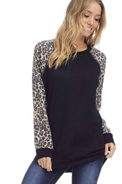 Lexy Leopard French Terry Sweatshirt