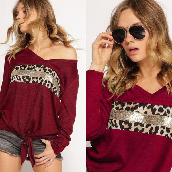 Cheetah & Sparkles Top