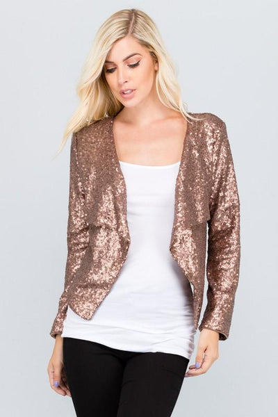 Jacket - Sequined Blazer (Black Or Bronze)