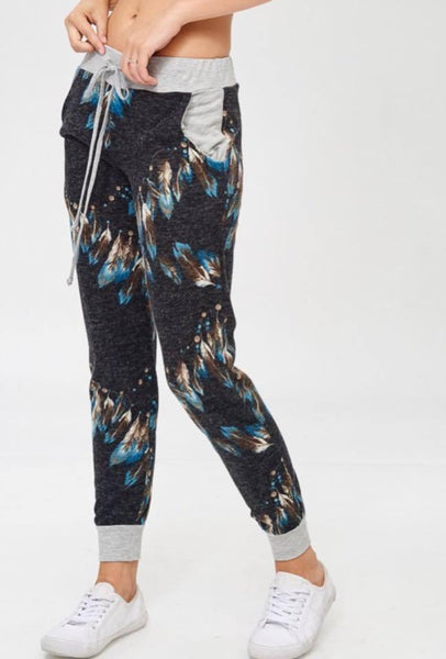 Joggers - Teal Feather Jogger Pants