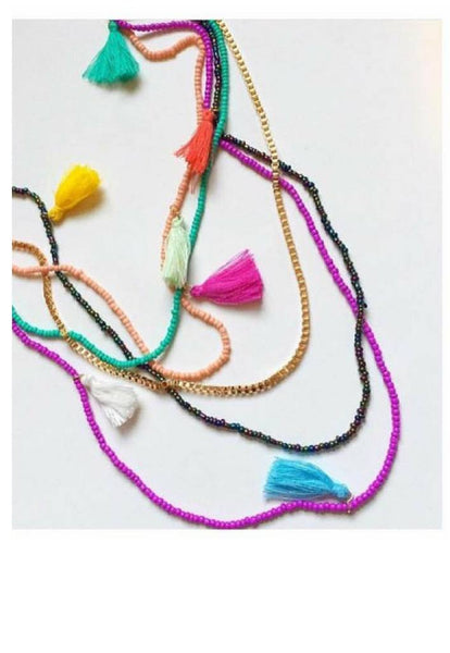 Necklace - Fiesta Tassel Necklace