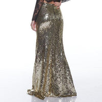 Skirt - Gold Sequin Maxi Skirt