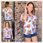 Tops - Floral Off Shoulder Top