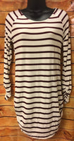 Tops - Ivory & Wine Striped Tunic