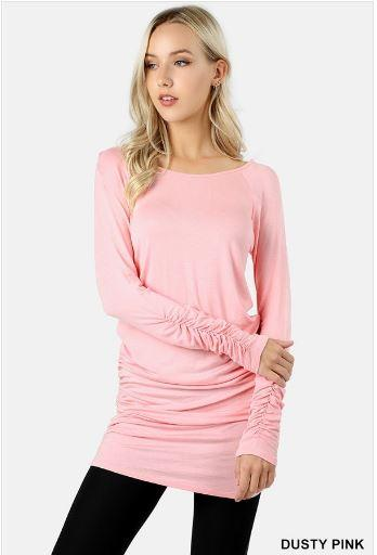 Tops - Solid Long Sleeve Tunics (more Colors)