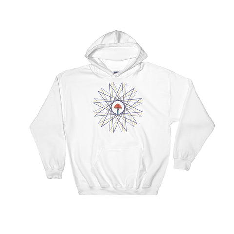 Shrooms - White - Hooded Sweatshirt - Vorm Clothing Co.