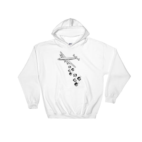 Preoccupied - White - Hooded Sweatshirt - Vorm Clothing Co.