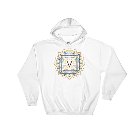 Symmetrical Life 01 - White - Hooded Sweatshirt - Vorm Clothing Co.