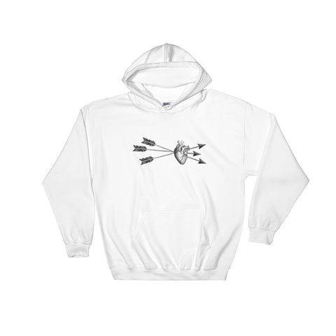 Love Struck 01 - White - Hooded Sweatshirt - Vorm Clothing Co.