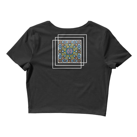 Mosaic - Black - Women's Crop Tee - Vorm Clothing Co.