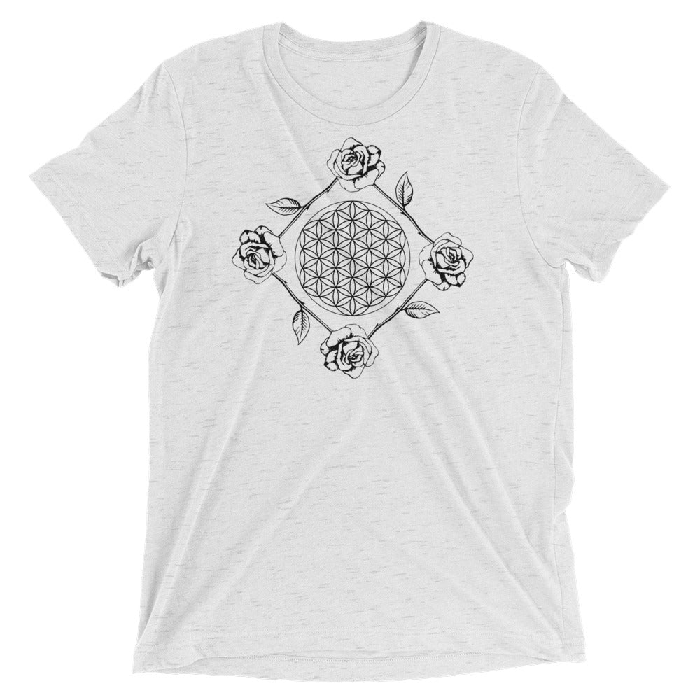 Flowers are life - White - Short sleeve t-shirt