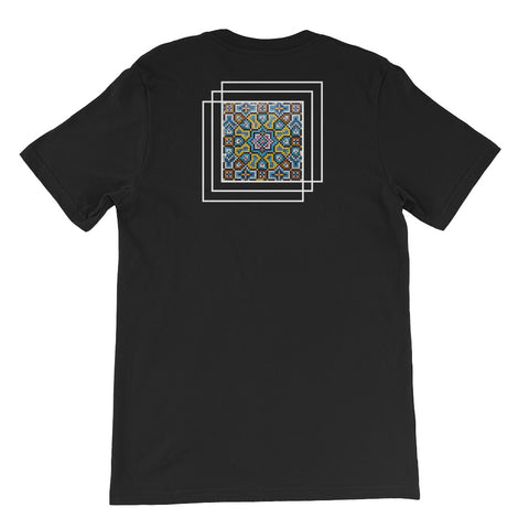 Mosaic - Black - Unisex short sleeve t-shirt - Vorm Clothing Co.