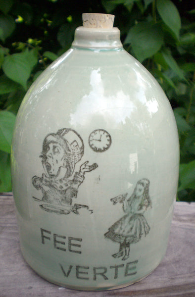 Alice in Wonderland Jug ceramic handmade