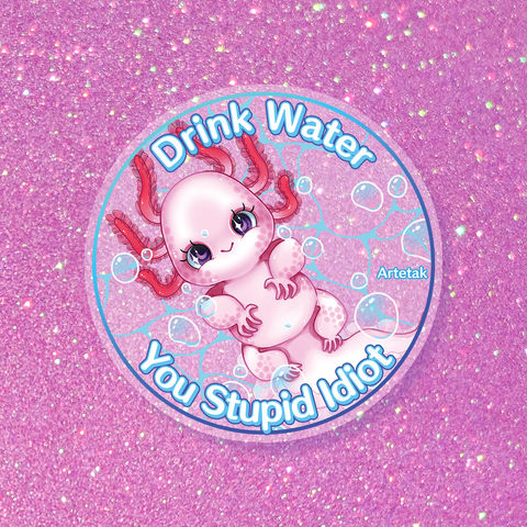 Drink Water Transparent Sticker